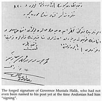 Forged signature